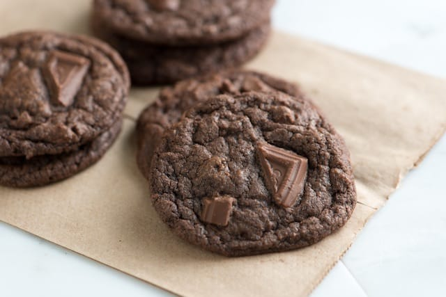Chewy Double Chocolate Cookies Recipe
