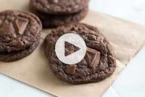 Chewy Double Chocolate Cookie Recipe with Video