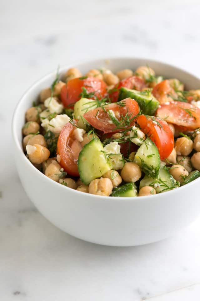 We just love this chickpea salad recipe with bright lemon, fresh dill ...