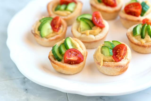 Easy Hummus Cups