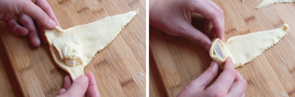 Mini Baked Brie Roll Ups Recipe Step 1
