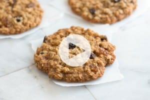 Soft and Chewy Oatmeal Raisin Cookie Recipe Video