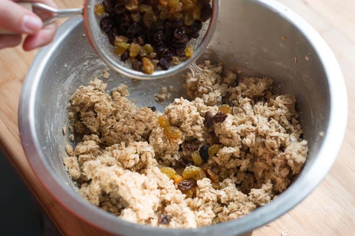 Add a combination of golden and regular raisins
