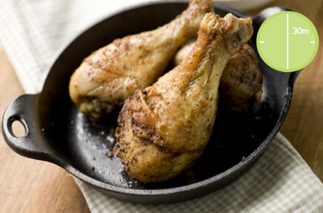 Baked Chicken Drumsticks with Old-Bay