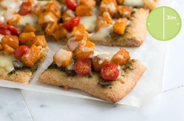 Butternut Squash and Pesto Pizza Recipe