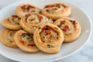 Cheesy Roasted Pepper Pastry Pinwheel Recipe