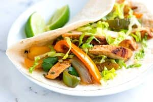 Easy, Garlic Citrus Marinated Chicken Fajitas Recipe