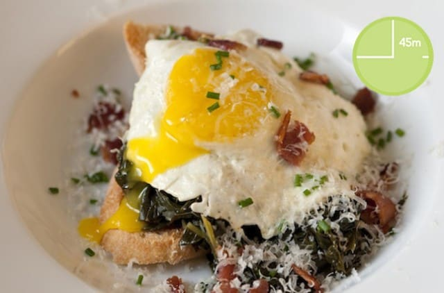 Kale with Egg and Toast Recipe