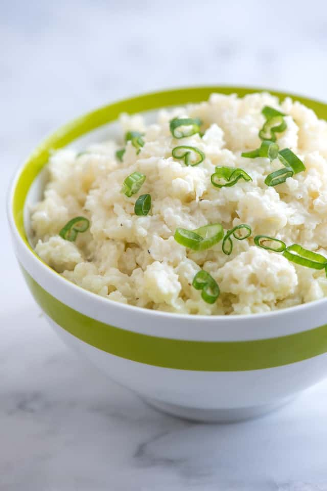 "Simple Creamy ""Smashed"" Cauliflower Recipe from www.inspiredtaste.n..."