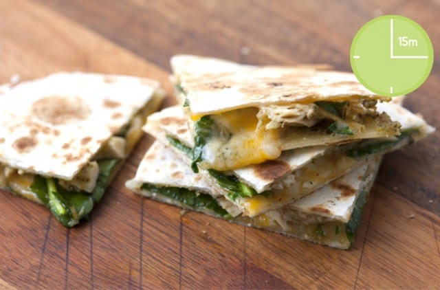 Pesto Chicken Quesadilla
