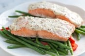Sour Cream Baked Salmon Recipe-1
