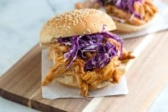 Tangy Barbecue Pulled Chicken Sandwich Recipe-1