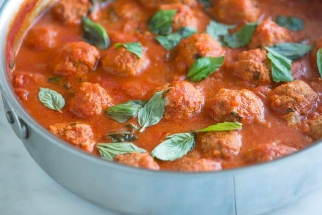 Turkey Meatballs Recipe with Light Tomato Sauce