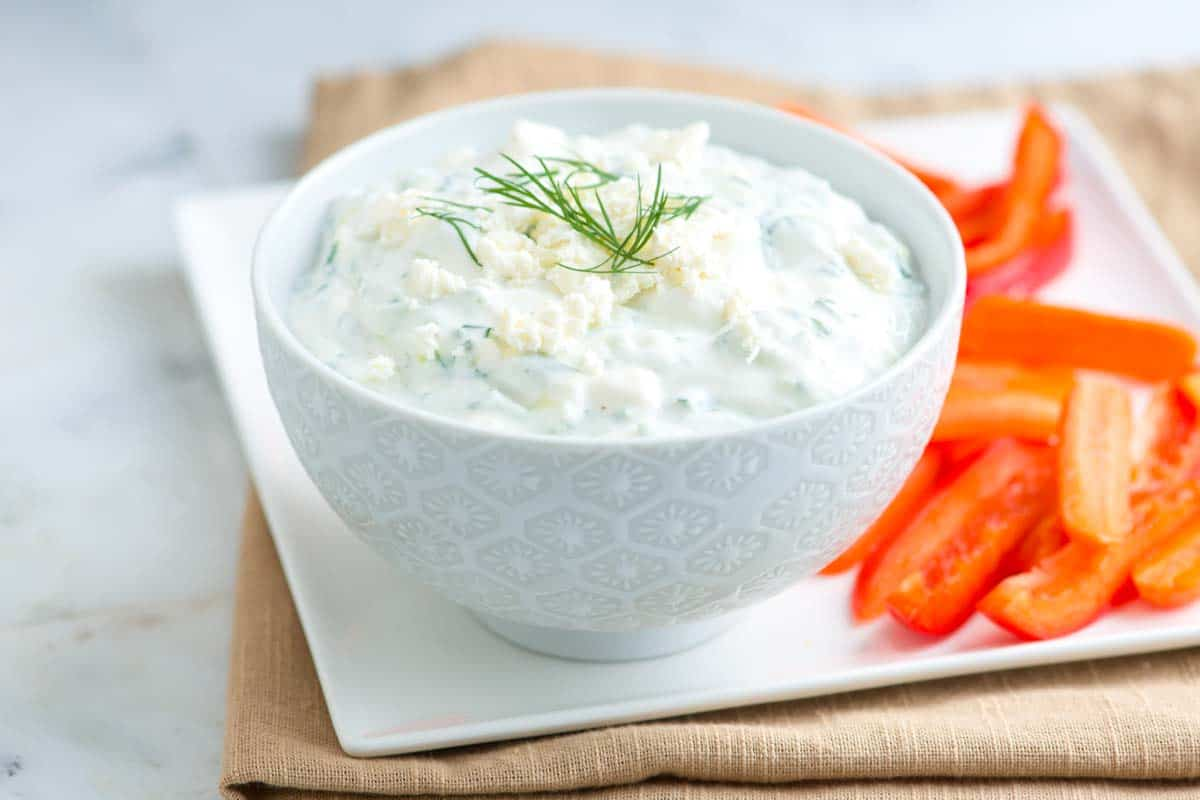 Simple Tzatziki Sauce Recipe with Feta