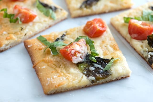 Tomato Basil Pizza Recipe with Sea Salt