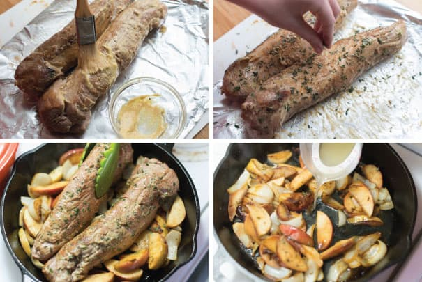 Perfect Roasted Pork Tenderloin with Apples