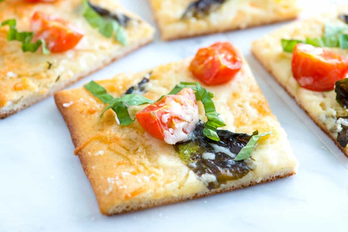 Quick Tomato Basil Pizza Recipe with Sea Salt
