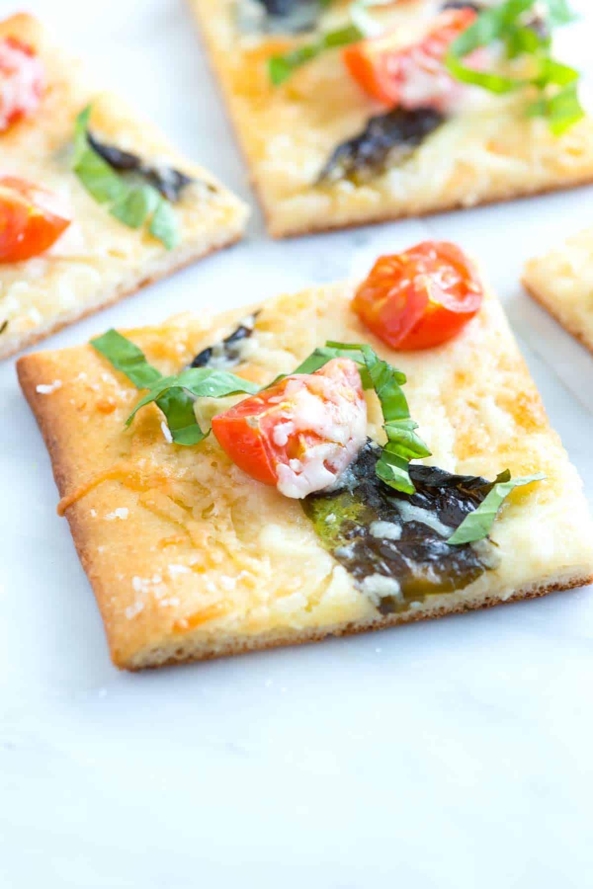 Quick Tomato Basil Pizza Recipe with Sea Salt