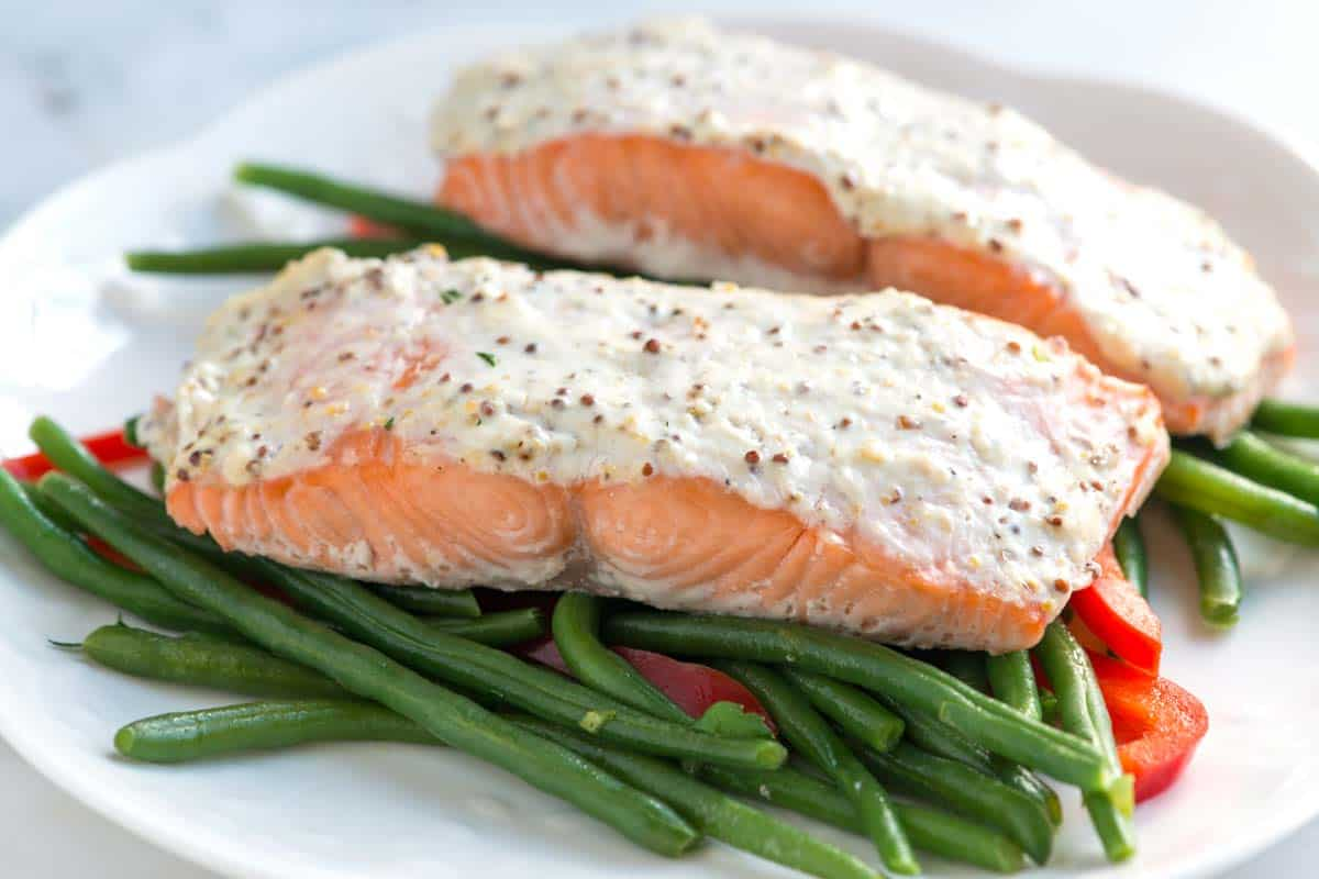 Sour Cream Baked Salmon