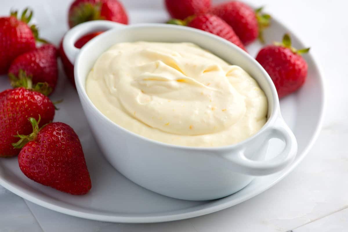 Ridiculously Easy Orange Cream Fruit Dip Recipe