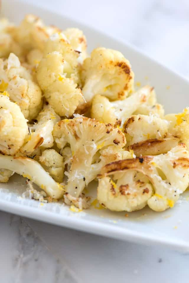 Cheesy Roasted Cauliflower Recipe with Lemon from www.inspiredtaste ...