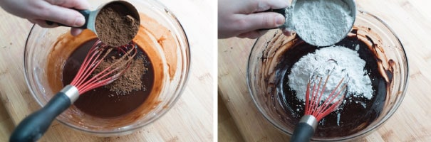 Sour Cream Chocolate Frosting-Step-1