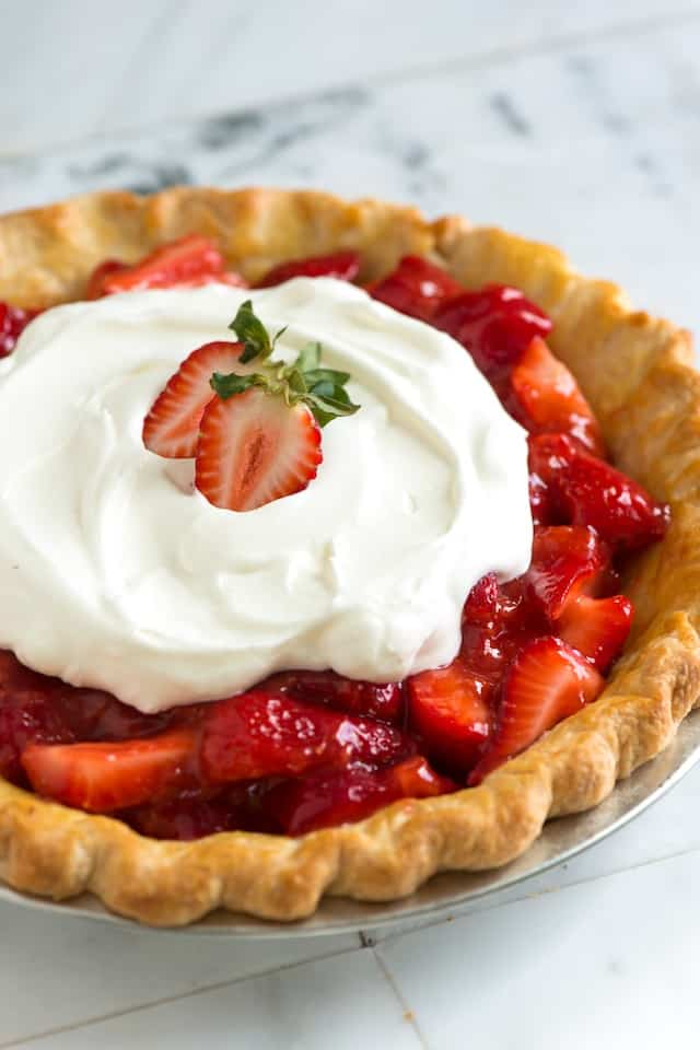 Easy, Homemade Strawberry Pie Recipe