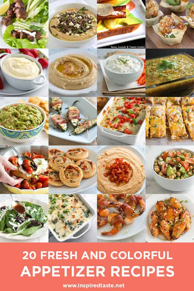 20 Fresh and Colorful Appetizer Recipes