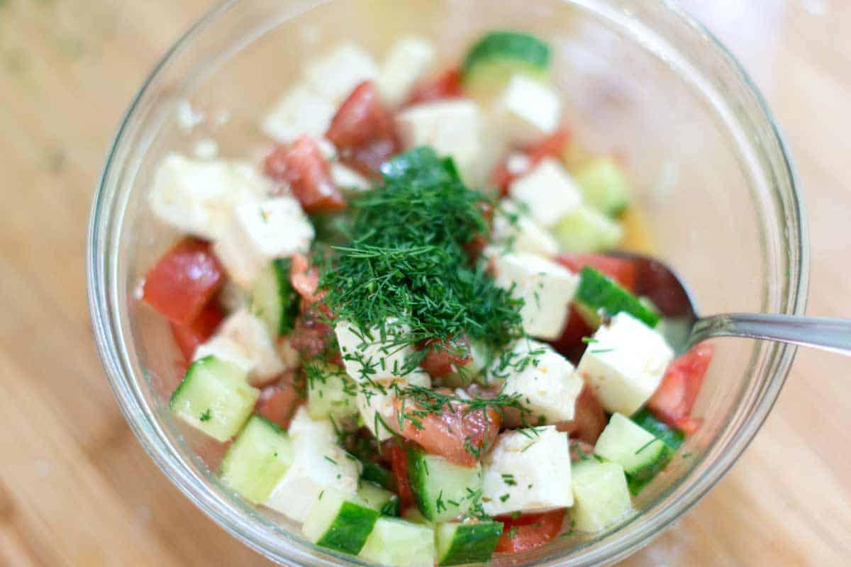 Cucumber, Tomato, and Feta Salad
