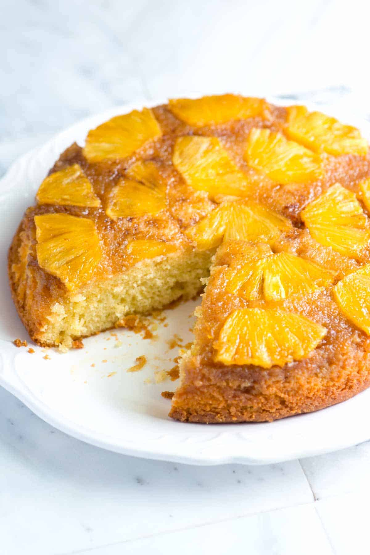 Pineapple Upside Down Cream Cheese Cake Recipe