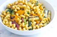 Lemon Basil Pasta Salad Recipe with Veggies