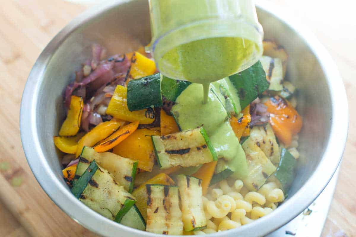 Grilled vegetable pasta recipes