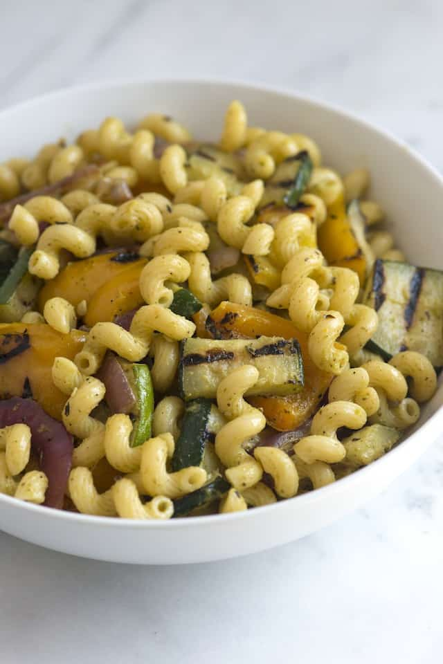 Simply Grilled Vegetable Pasta Salad Recipe