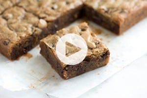No Fail Blondies Recipe Video