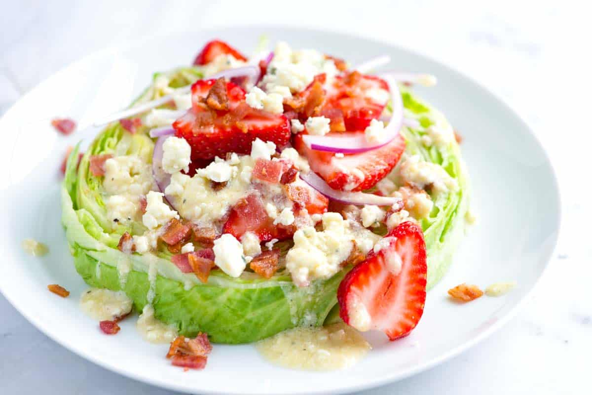 Strawberry Iceberg Salad with Blue Cheese Vinaigrette