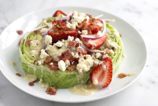 Stacked Iceberg and Strawberry Salad Recipe