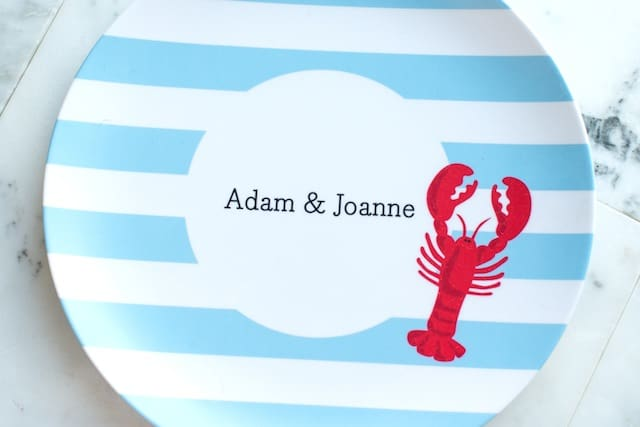 Giveaway: Personalized Plate Set (Set of 4)