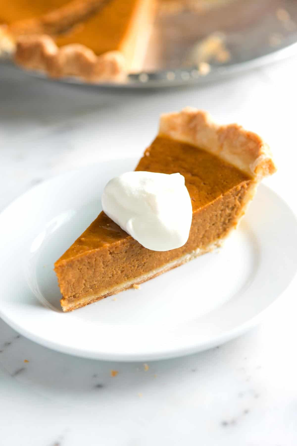 Making this pumpkin pie from scratch is easy -- we actually think it's one of the simplest (and tastiest) pies you can make at home.