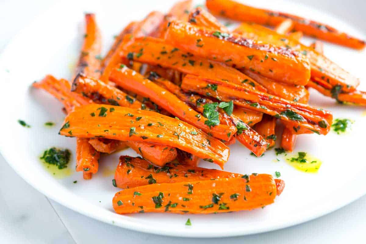Roasted Carrots Recipe with Parsley Butter