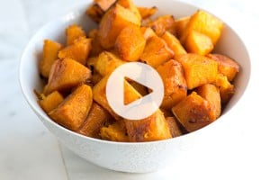 Roasted Butternut Squash Recipe with Video