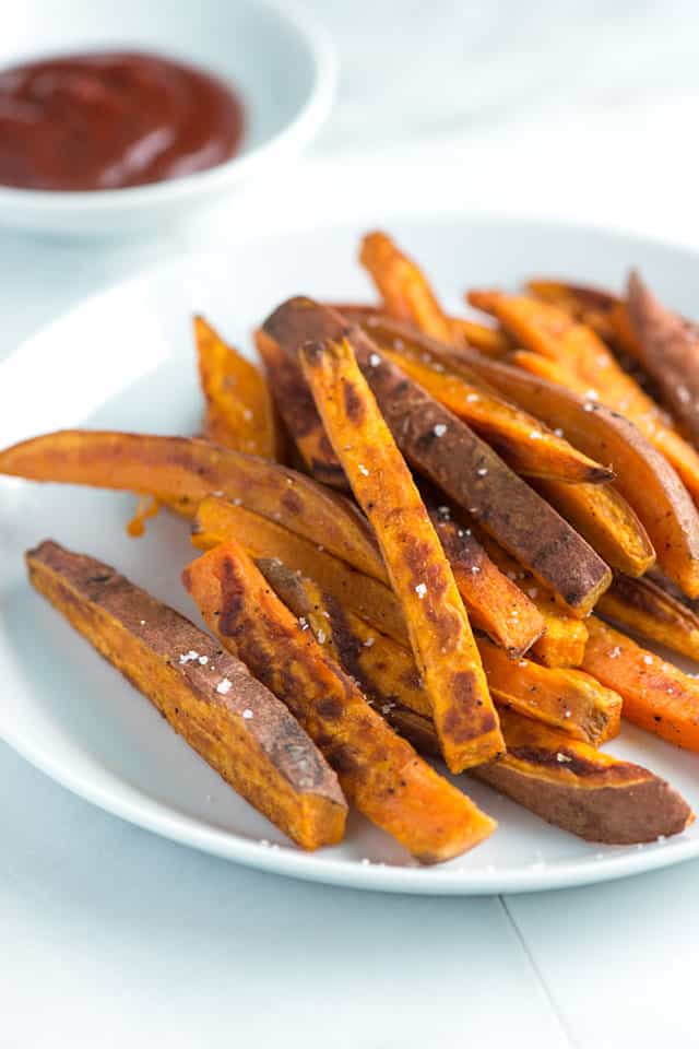 Baked Sweet Potato Fries Recipe from www.inspiredtaste.net