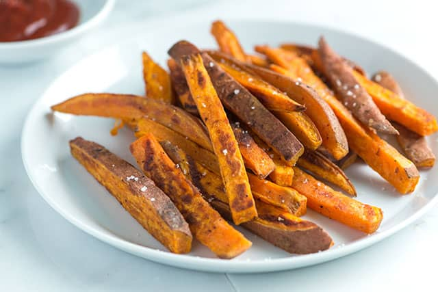 How to Bake Sweet Potatoes - Baked Sweet Potato Fries