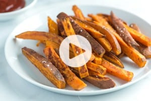 Baked Sweet Potato Fries Recipe Video