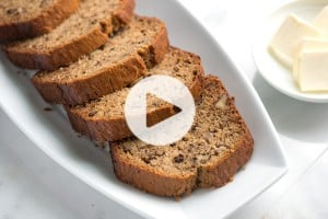 Classic Banana Bread Recipe and Video
