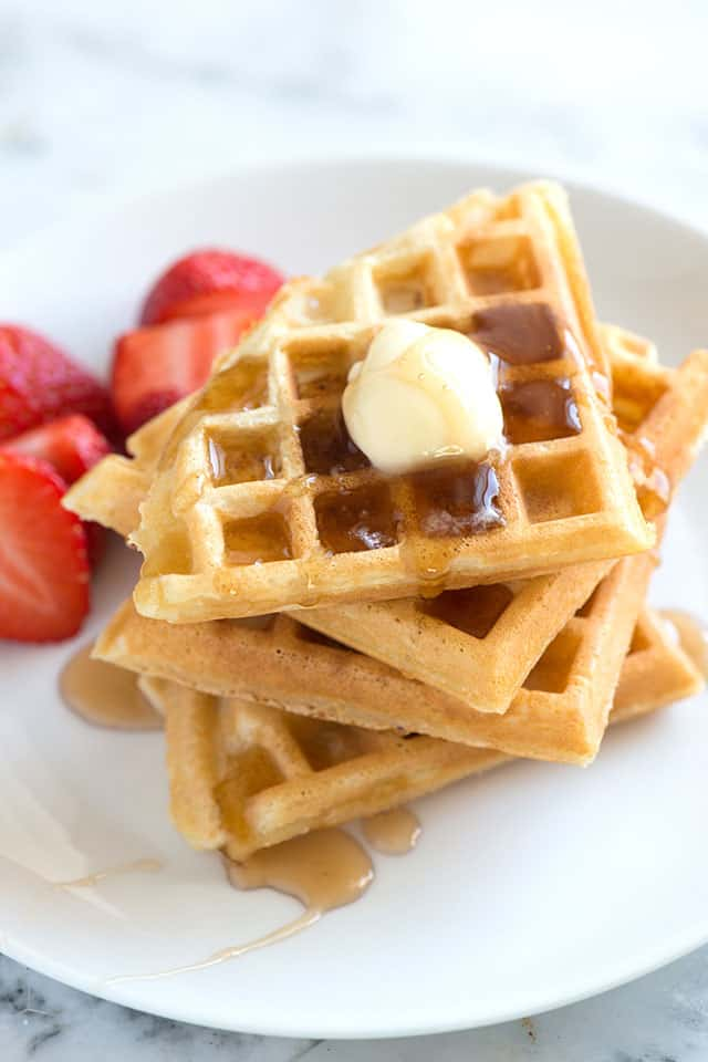 ... waffle recipe. Make light and crispy homemade waffles with tender