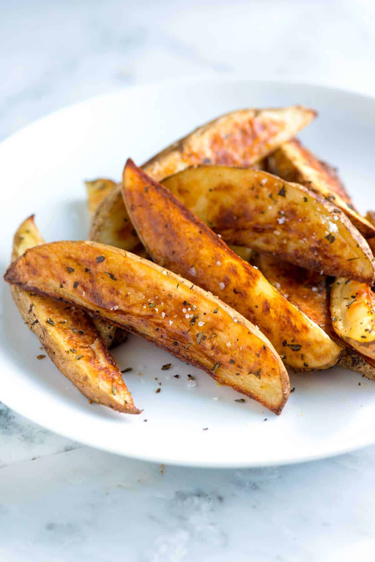 How To Make Roasted Potato Wedges So They Don't Stick - Rosemary Baked Potato Wedges Recipe