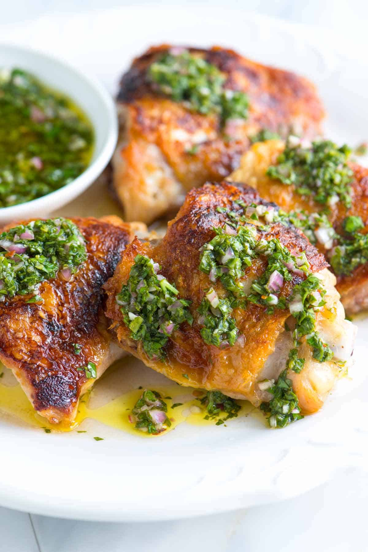 How to Make Chicken with Chimichurri Sauce