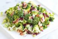 Easy Broccoli Salad Recipe with Bacon