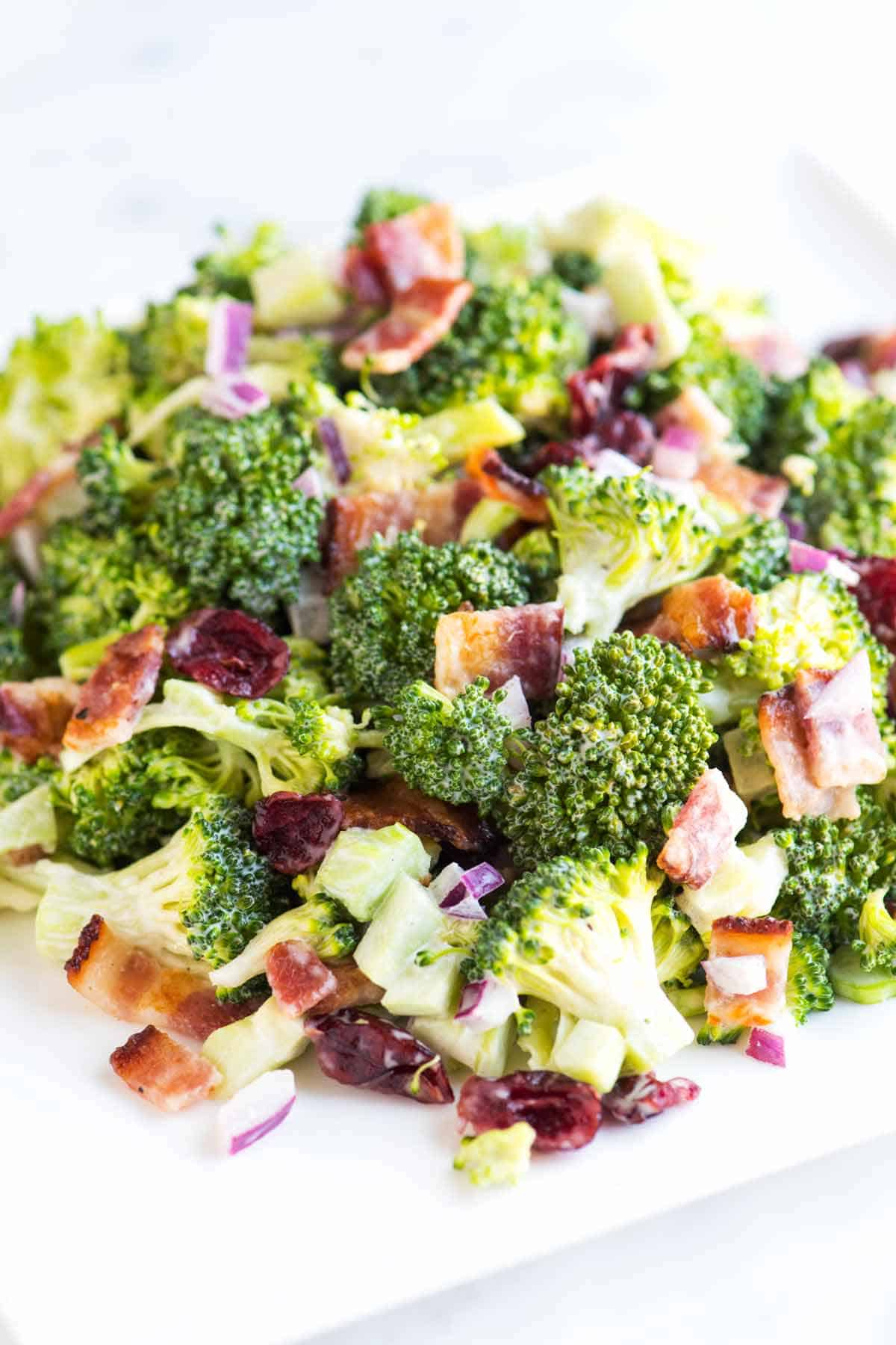 Easy Creamy Broccoli Salad With Bacon