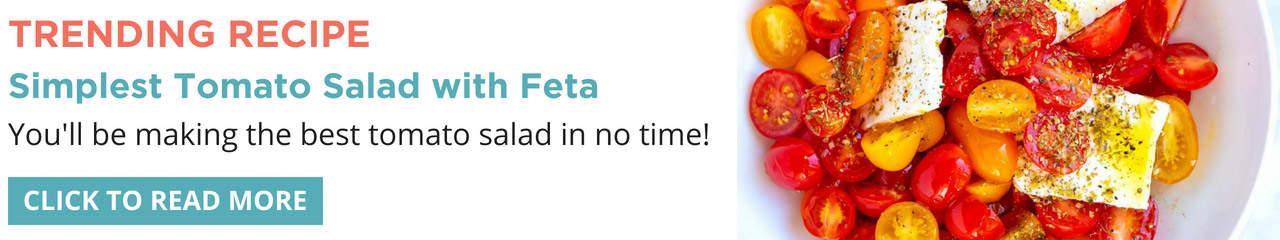 Simple Tomato Salad with Feta